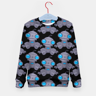Thumbnail image of Sad Robot Pattern Kid's sweater, Live Heroes