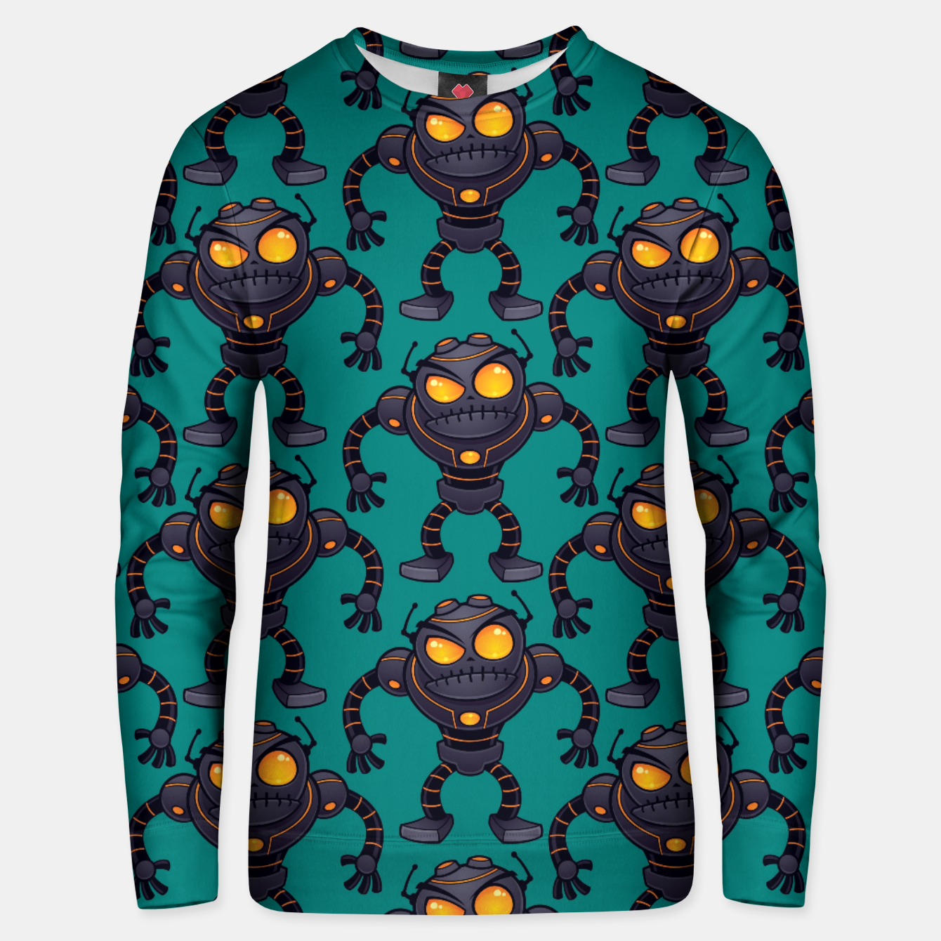 Foto Angry Robot Pattern Unisex sweater - Live Heroes