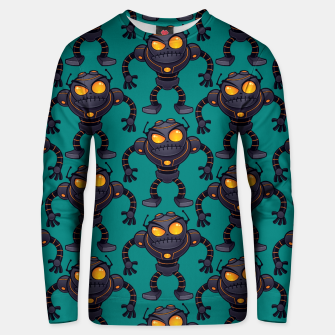 Thumbnail image of Angry Robot Pattern Unisex sweater, Live Heroes