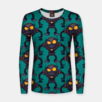 Angry Robot Pattern Women sweater thumbnail image