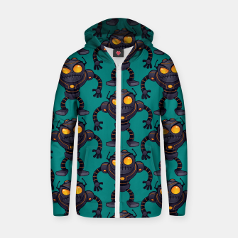Angry Robot Pattern Zip up hoodie thumbnail image