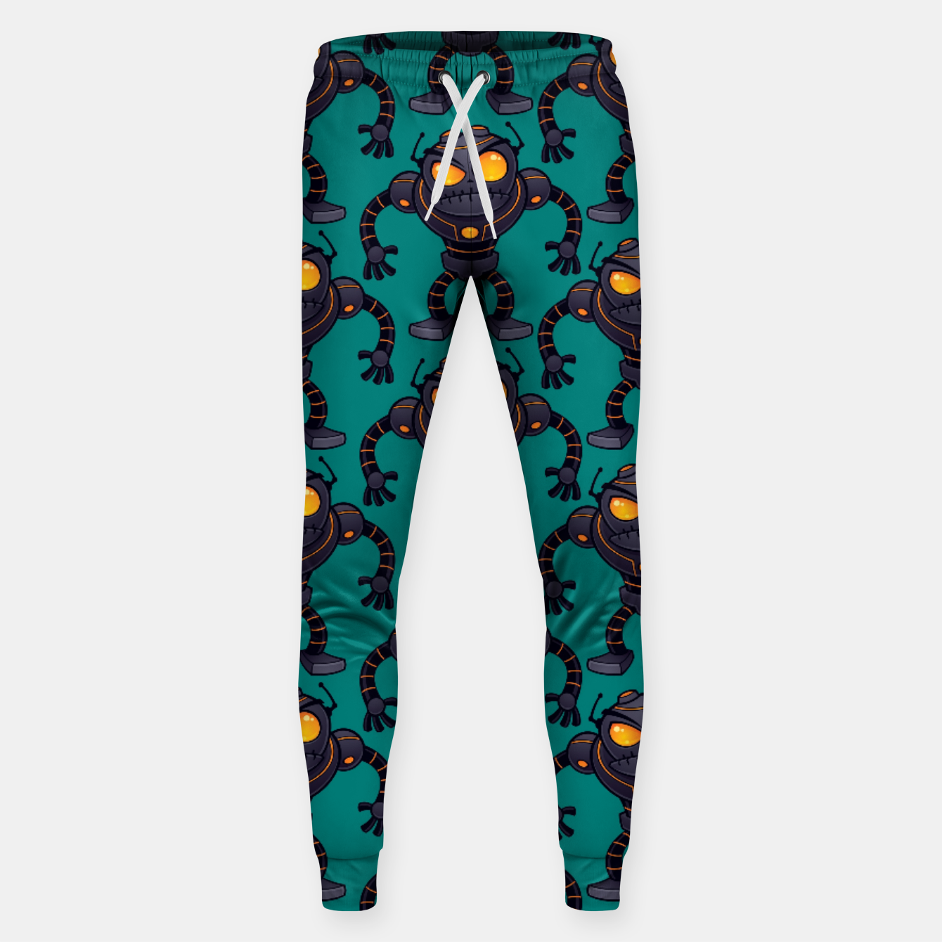 Image of Angry Robot Pattern Sweatpants - Live Heroes