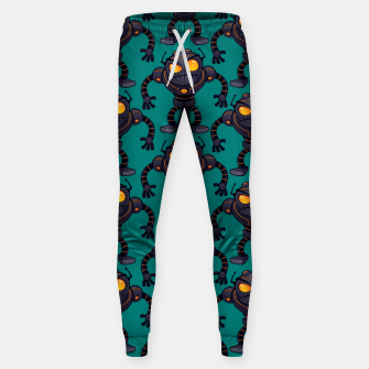 Miniatur Angry Robot Pattern Sweatpants, Live Heroes