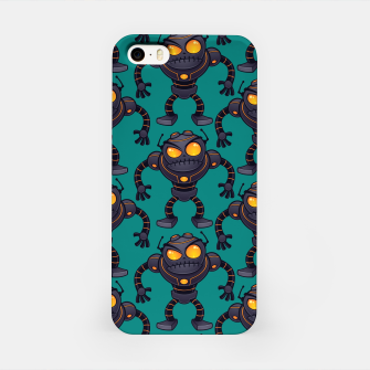 Angry Robot Pattern iPhone Case thumbnail image