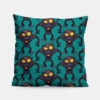 Angry Robot Pattern Pillow thumbnail image