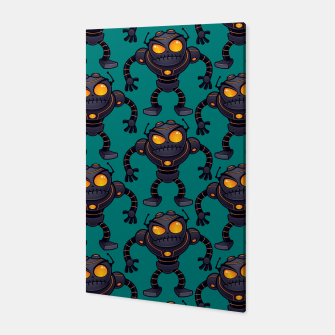 Angry Robot Pattern Canvas thumbnail image