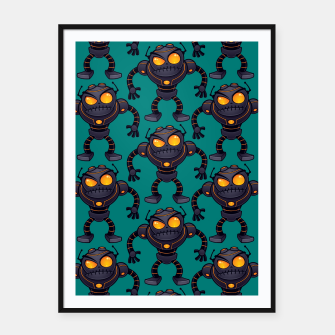 Angry Robot Pattern Framed poster thumbnail image