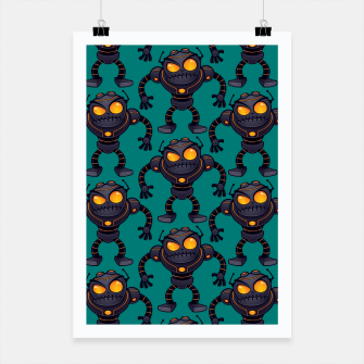 Angry Robot Pattern Poster thumbnail image