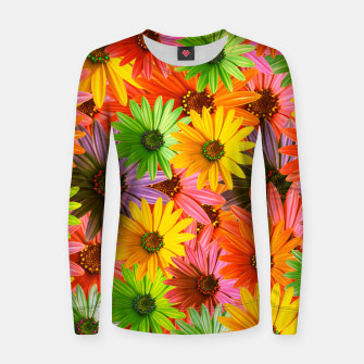 Miniature de image de Colorful Flowers Women sweater, Live Heroes