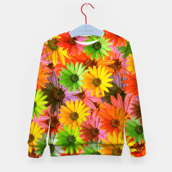 Colorful Flowers Kid's sweater miniature