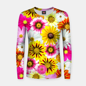 Miniature de image de Colorful Summer Flowers Women sweater, Live Heroes