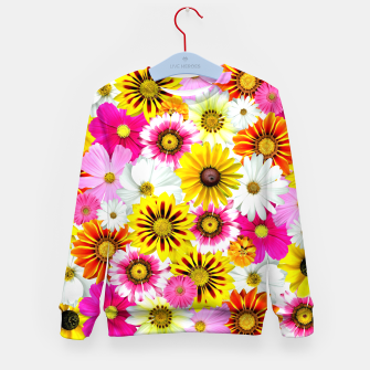 Thumbnail image of Colorful Summer Flowers Kid's sweater, Live Heroes