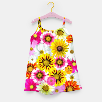 Thumbnail image of Colorful Summer Flowers Girl's dress, Live Heroes