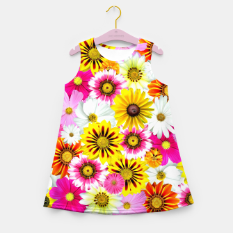 Thumbnail image of Colorful Summer Flowers Girl's summer dress, Live Heroes