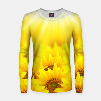Miniature de image de Beautiful Sunflower Women sweater, Live Heroes
