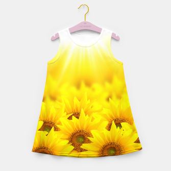 Thumbnail image of Beautiful Sunflower Girl's summer dress, Live Heroes