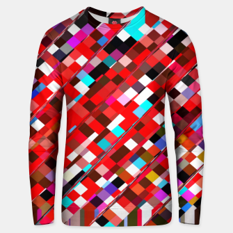 Miniaturka geometric square pixel pattern abstract background in red blue pink Unisex sweater, Live Heroes