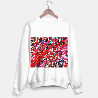 Miniature de image de geometric square pixel pattern abstract background in red blue pink Sweater regular, Live Heroes