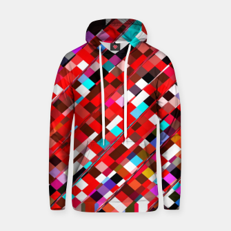 Miniature de image de geometric square pixel pattern abstract background in red blue pink Hoodie, Live Heroes