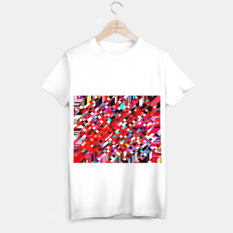Miniature de image de geometric square pixel pattern abstract background in red blue pink T-shirt regular, Live Heroes