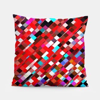 Miniature de image de geometric square pixel pattern abstract background in red blue pink Pillow, Live Heroes