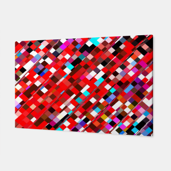 Miniature de image de geometric square pixel pattern abstract background in red blue pink Canvas, Live Heroes