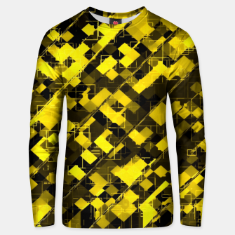 Miniaturka geometric square pixel pattern abstract background in yellow and black Unisex sweater, Live Heroes