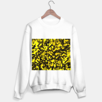 Miniature de image de geometric square pixel pattern abstract background in yellow and black Sweater regular, Live Heroes