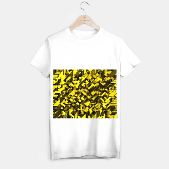 Miniature de image de geometric square pixel pattern abstract background in yellow and black T-shirt regular, Live Heroes