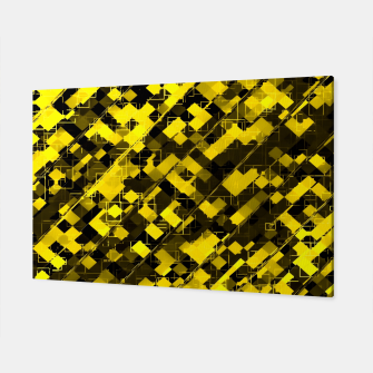 Miniature de image de geometric square pixel pattern abstract background in yellow and black Canvas, Live Heroes