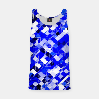 Miniaturka geometric square pixel pattern abstract background in blue Tank Top, Live Heroes
