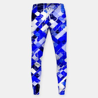 Miniaturka geometric square pixel pattern abstract background in blue Sweatpants, Live Heroes