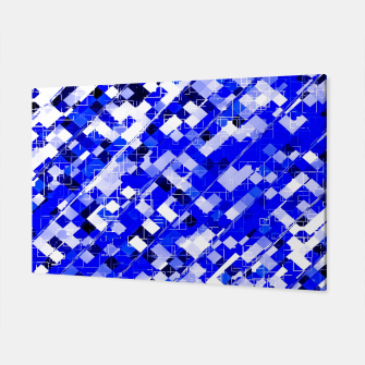 Miniaturka geometric square pixel pattern abstract background in blue Canvas, Live Heroes