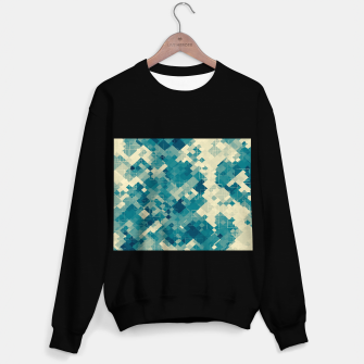 Miniaturka blue geometric square pixel pattern abstract background Sweater regular, Live Heroes