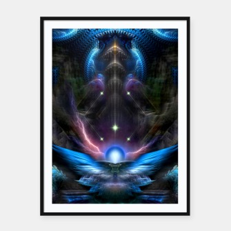 Thumbnail image of HTL Mech Framed poster, Live Heroes