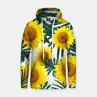 Miniature de image de Tropical Sunflower Jungle Leaves Pattern #1 #tropical #decor #art  Kapuzenpullover, Live Heroes
