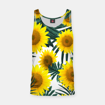 Thumbnail image of Tropical Sunflower Jungle Leaves Pattern #1 #tropical #decor #art  Muskelshirt , Live Heroes