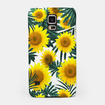 Thumbnail image of Tropical Sunflower Jungle Leaves Pattern #1 #tropical #decor #art  Handyhülle für Samsung, Live Heroes