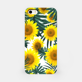 Thumbnail image of Tropical Sunflower Jungle Leaves Pattern #1 #tropical #decor #art  iPhone-Hülle, Live Heroes