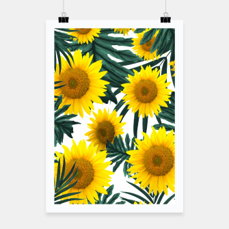 Miniature de image de Tropical Sunflower Jungle Leaves Pattern #1 #tropical #decor #art  Plakat, Live Heroes