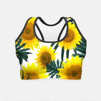 Miniature de image de Tropical Sunflower Jungle Leaves Pattern #1 #tropical #decor #art  Crop Top, Live Heroes