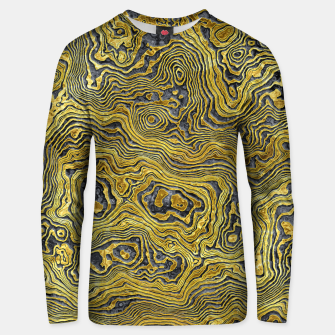 Miniaturka Abstract Black Gold Marble Unisex sweater, Live Heroes