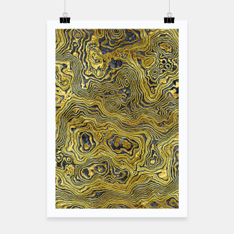 Miniature de image de Abstract Black Gold Marble Poster, Live Heroes