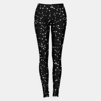 Thumbnail image of Zodiac Star Constellations Pattern Leggings, Live Heroes