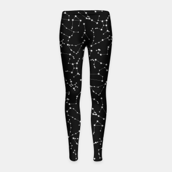 Thumbnail image of Zodiac Star Constellations Pattern Girl's leggings, Live Heroes