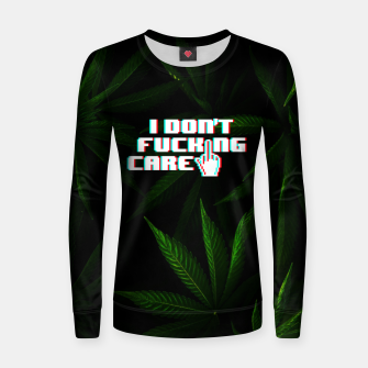 Miniatur I DON'T CARE Sweatshirt, Live Heroes