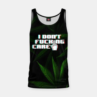 Miniatur I DON'T CARE Tank Top, Live Heroes