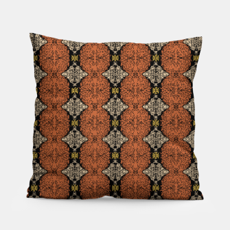 Thumbnail image of Brahma Play Pattern - Rust Pillow, Live Heroes