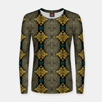Thumbnail image of Brahma Play Pattern - Martini Olive Women sweater, Live Heroes