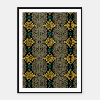 Thumbnail image of Brahma Play Pattern - Martini Olive Framed poster, Live Heroes